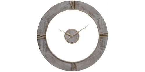 Floating Grey Wall Clock