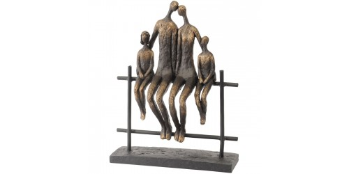 Family Of Four Bench Sculpture