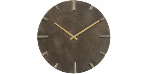 Aluminium & Slate Effect Wall Clock