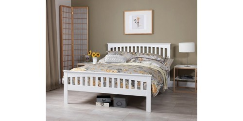 Adele 4ft6 White Bed Frame