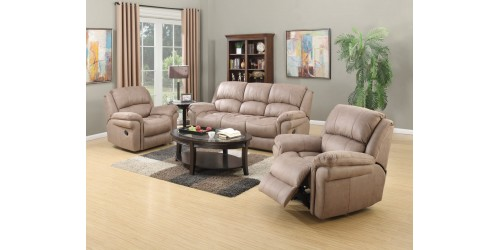 Farnham Taupe 3  + 1 + 1 Reclining Sofa set - In Stock!!!