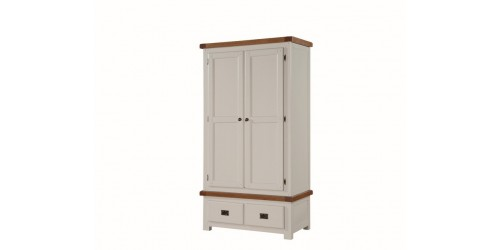 Henley Painted Oak 2 Door Wardrobe