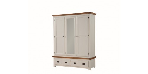 Henley Painted Oak Triple Door Wardrobe