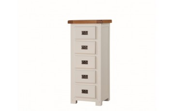 Henley Painted Oak 5 Drawer Narrow Chest