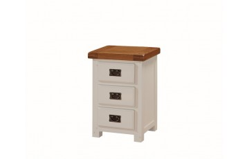 Henley Painted Oak 3 Drawer Bedside cabinet