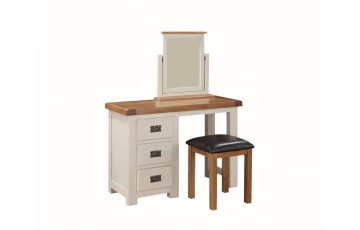 Henley Painted Oak Dressing Table & Footstool