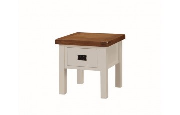Henley Painted Oak Lamp Table with Drawer
