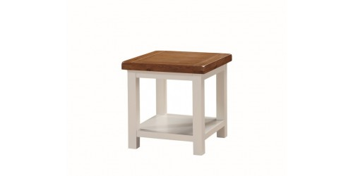 Henley Painted Oak Lamp Table with Shelf