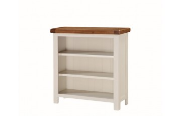 Henley Painted Oak Low Wide Bookcase