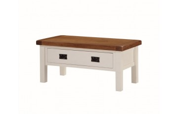 Henley Painted Oak Small Coffee Table with Drawers