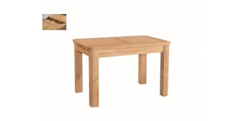 Tamworth Solid Oak / Oak Veneer 4' extension dining table (Extended) - Standard