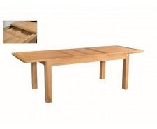 Tamworth Solid Oak / Oak Veneer 6' extension dining table (Extended) - Standard