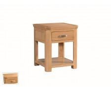 Tamworth Solid Oak / Oak Veneer End Table With Drawer - Standard