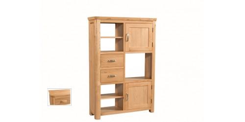 Tamworth Solid Oak / Oak Veneer High Display Unit - Standard