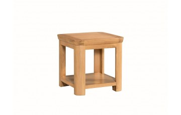 Tamworth Solid Oak / Oak Veneer Lamp Table - Standard