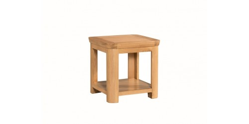 Tamworth Solid Oak / Oak Veneer Lamp Table - Standard