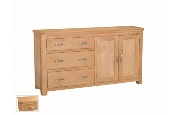 Tamworth Solid Oak / Oak Veneer Large Sideboard- Standard
