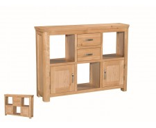 Tamworth Solid Oak / Oak Veneer Low Display Unit - Standard