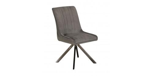 Chloe Velvet Dining Chair Grey