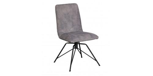 Luna Swivel Dining Chair Grey