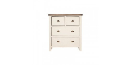 Canterbury White Painted 4 Drawer Chest - Solid Reclaimed Timber