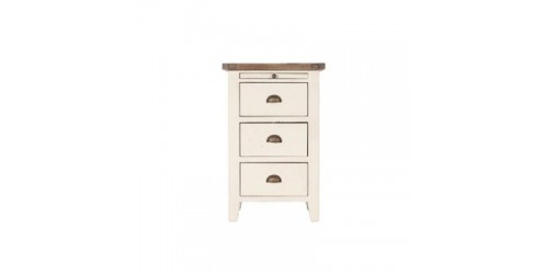 Canterbury White Painted 3 Drawer Bedside