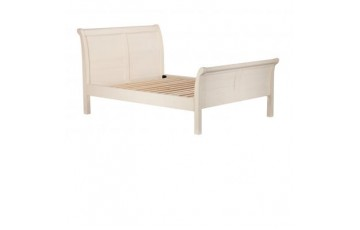 Canterbury 4ft6 Painted White Bed Frame - Solid Reclaimed Timber