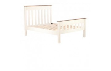 Canterbury 6ft Panel Bed Frame in Painted White