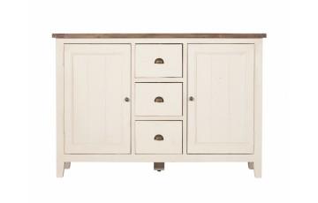 Canterbury Painted White 2 Door Wide Sideboard - Solid Reclaimed Wood