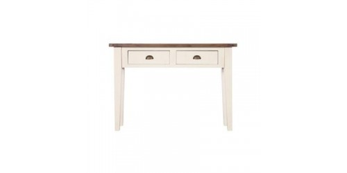 Canterbury Painted White Console Table - Solid Reclaimed Timber