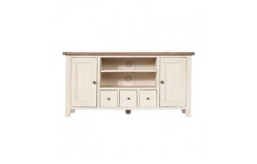 Canterbury Painted White TV Stand - Solid Reclaimed Timber