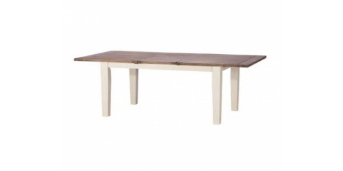 Canterbury Painted White Extending Dining Table - Solid Reclaimed Wood