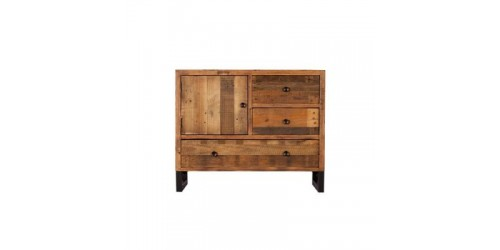 Nassau Narrow Sideboard - Solid Reclaimed Wood