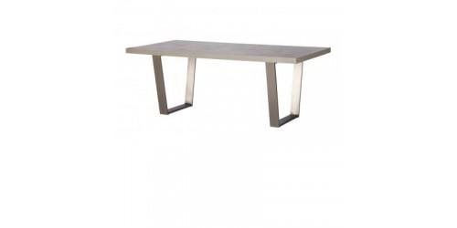 Paris Steel / Wooden 160cm Dining Table