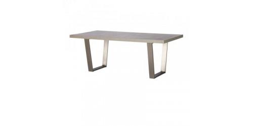 Paris Steel / Wooden 200cm Dining Table