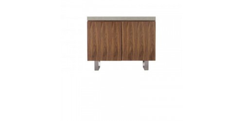 Paris Steel / Wooden Narrow Sideboard