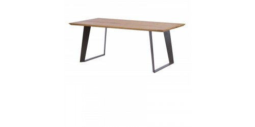 Salcombe 1.8m Oak Dining Table with Steel Base