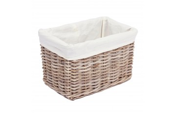 Wicker Rectangular Basket (With Lining)
