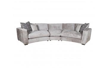 Aria 3 Piece Curved Corner Sofa