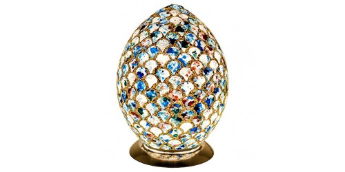 Mosaic Egg Lamp - Blue