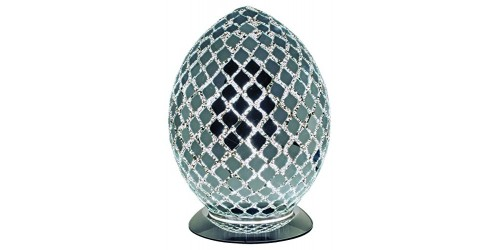 Mosaic Egg Lamp - Mirror