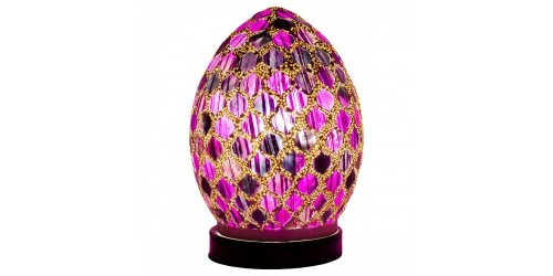 Mosaic Mini Egg Lamp - Purple