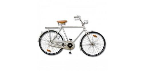 Silver 3d Hanging Bike Wall Art