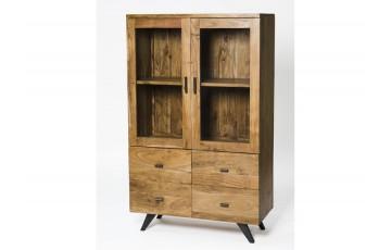 Ascot 2 Doors 4 Drawers Display Cabinet