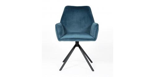 Utopia Velvet Dining Chair Blue