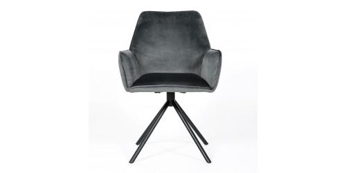Utopia Velvet Dining Chair Grey