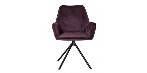 Utopia Velvet Dining Chair Maroon