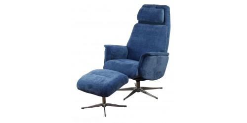 Aldan Reclining Swivel Chair with Footstool