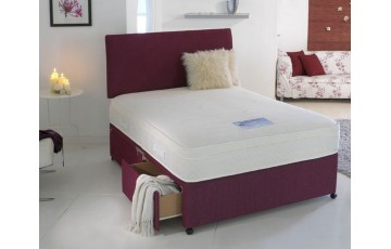 Silk 1500 Pocket Sprung 4ft Small Double Divan Set