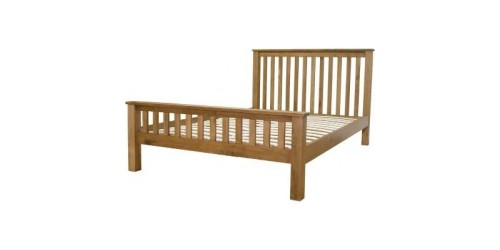 Chicago Solid Oak 4ft6 Bed Frame